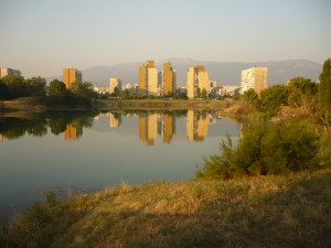 The_lake_at_Druzhba,_Sofia